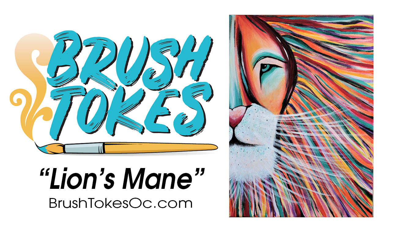 "BrushTokes 420-Friendly All-Inclusive Paint Session - ""Lion's Mane"""