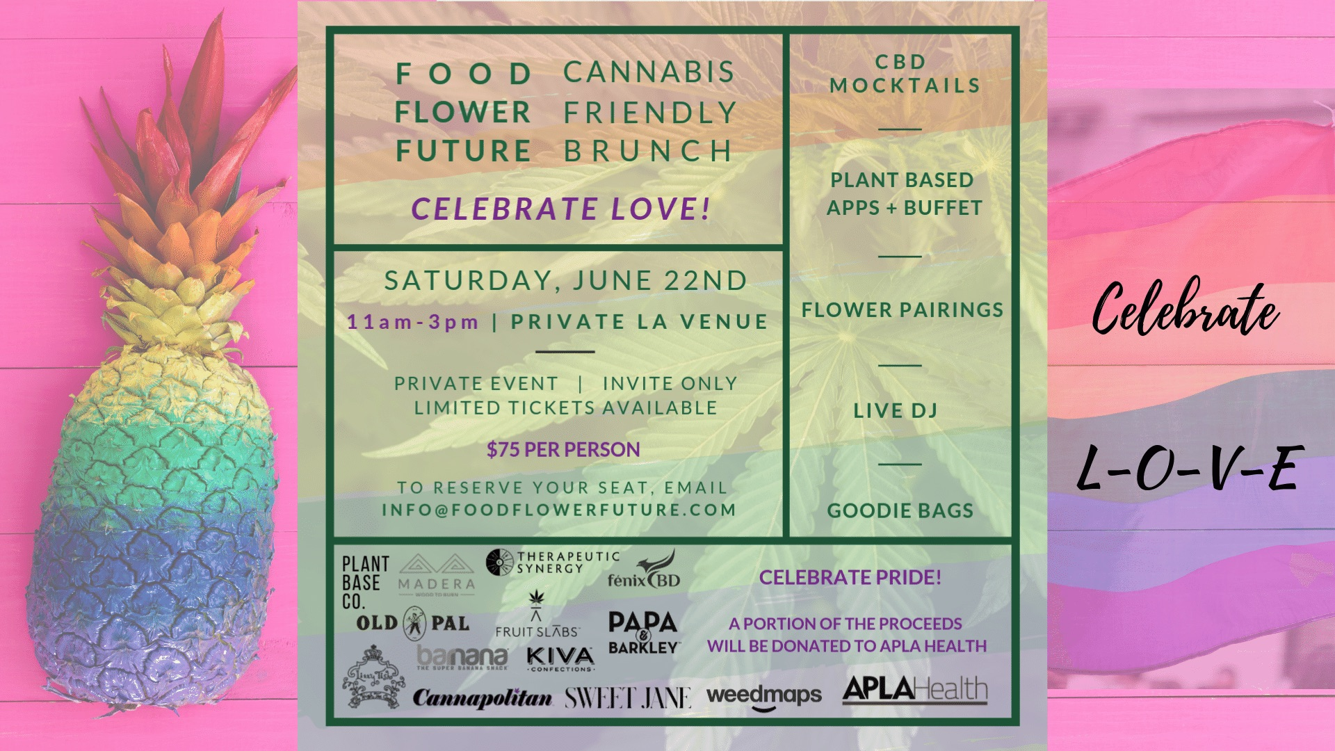 CANNABIS FRIENDLY  BRUNCH
