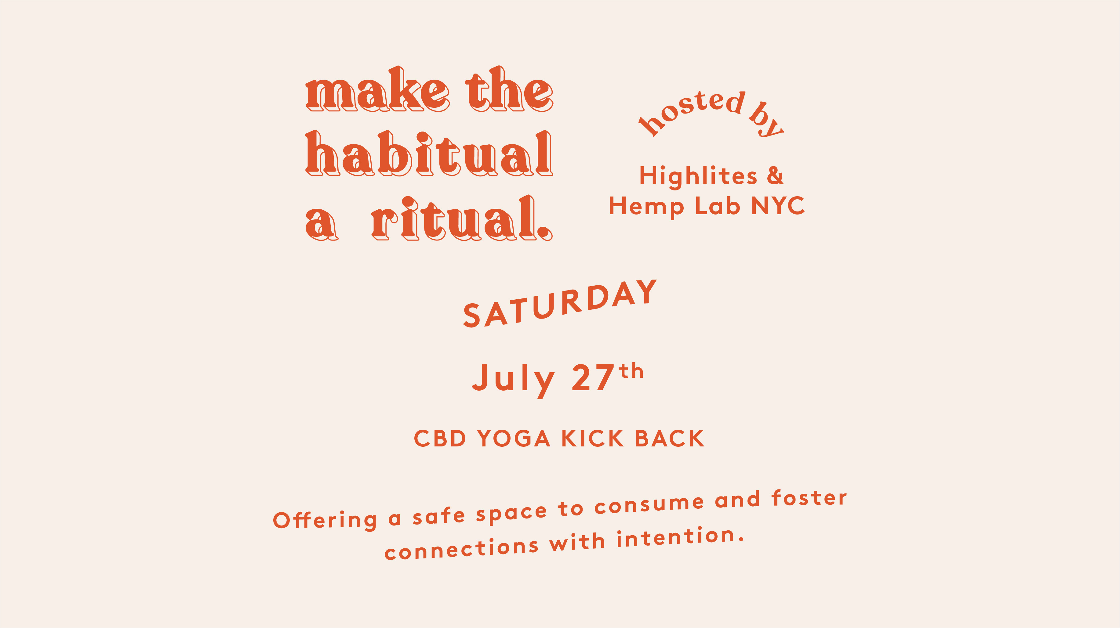 Make the Habitual a Ritual: CBD Yoga Kick-Back