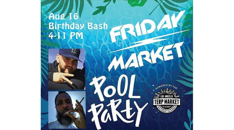 Friday Market BBQ Pool Party Birthday Bash 8/16