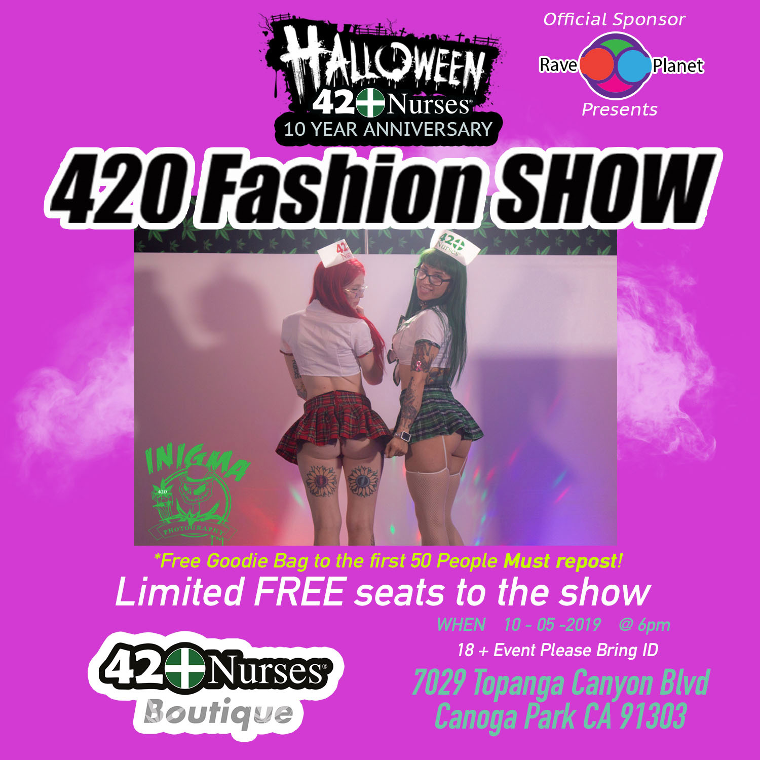 FREE HALLOWEEN 420FASHION SHOW AT THE BOUTIQUE