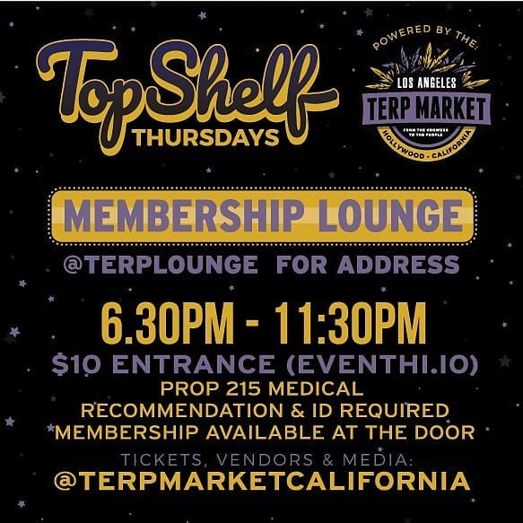 Top Shelf Thursday Terp Market LA 9/26