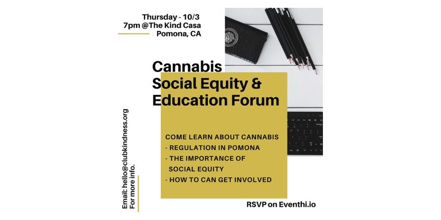 Pomona Cannabis Social Equity & Education Forum