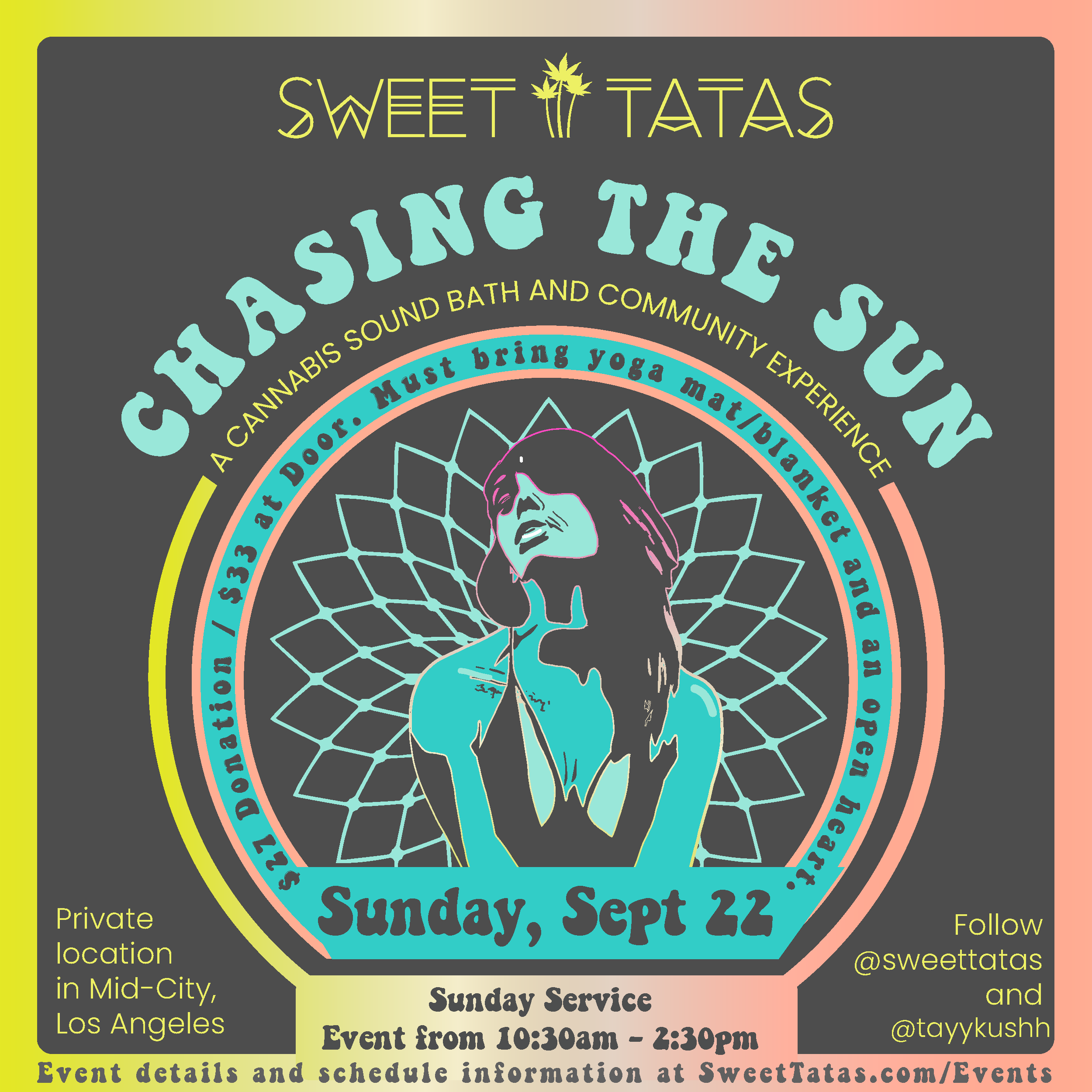 Chasing The Sun: A Cannabis Sound Bath and Community Experience