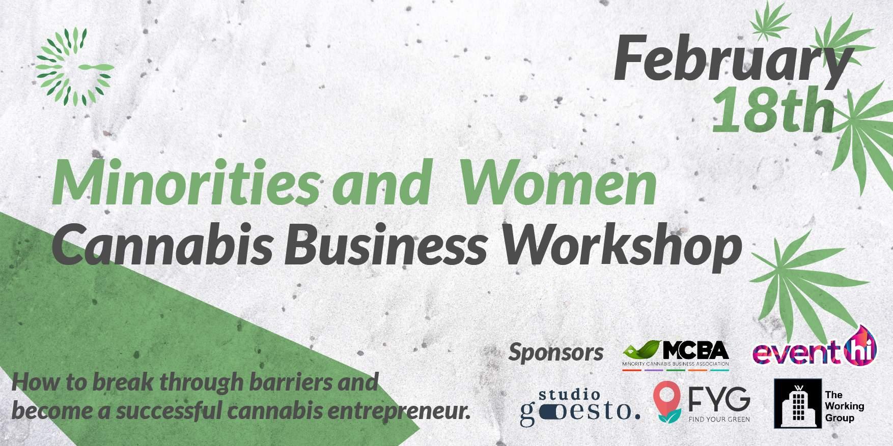 Minorities and  Women Cannabis Business Workshop