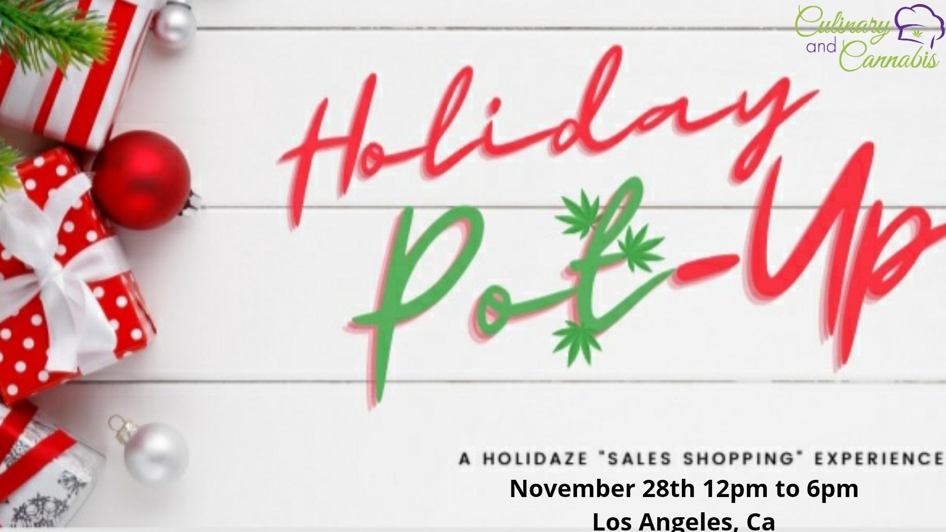 Holiday Pot Up Shop