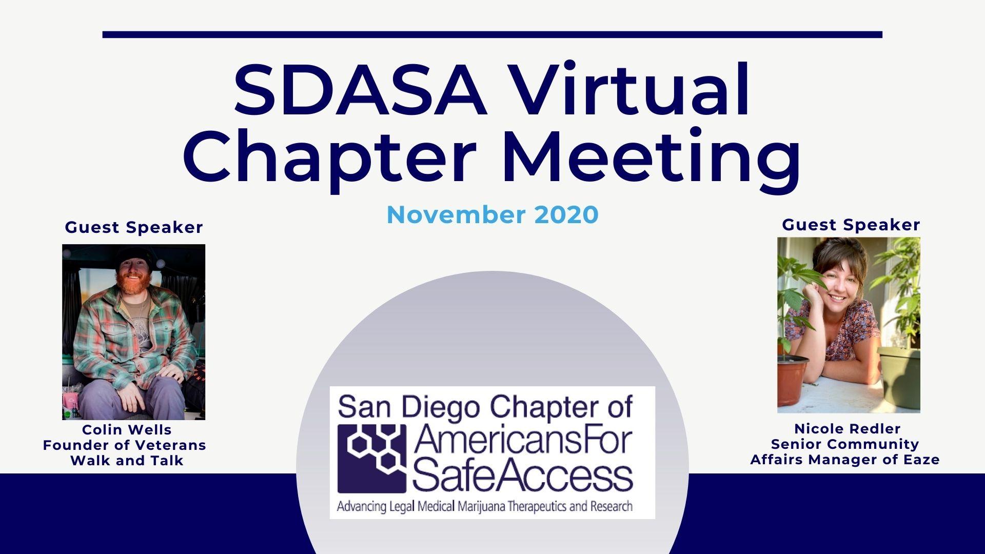 November SDASA Virtual Chapter Meeting