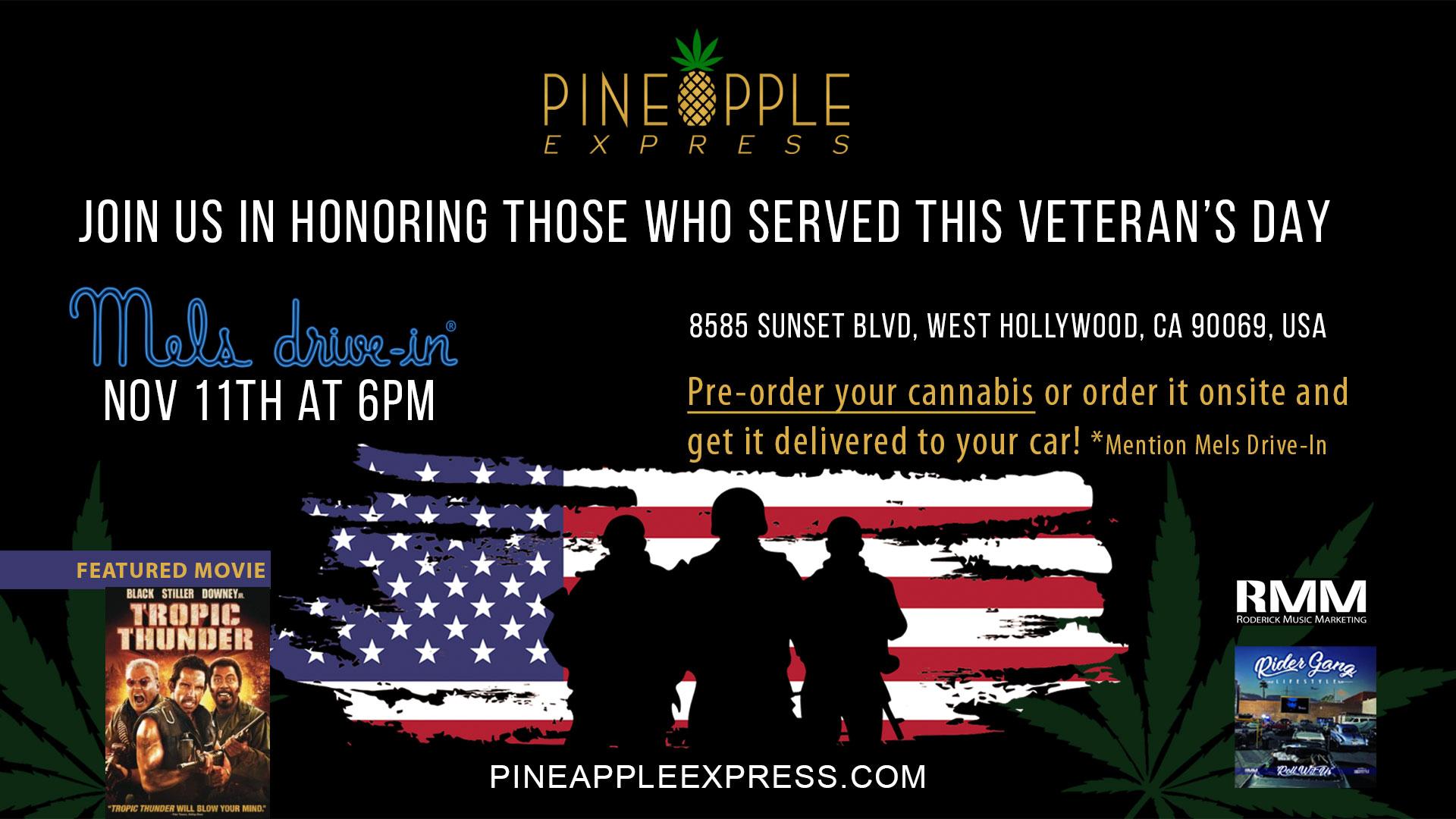 Pineapple Express - Veterans Day Movie Night - Nov 11th