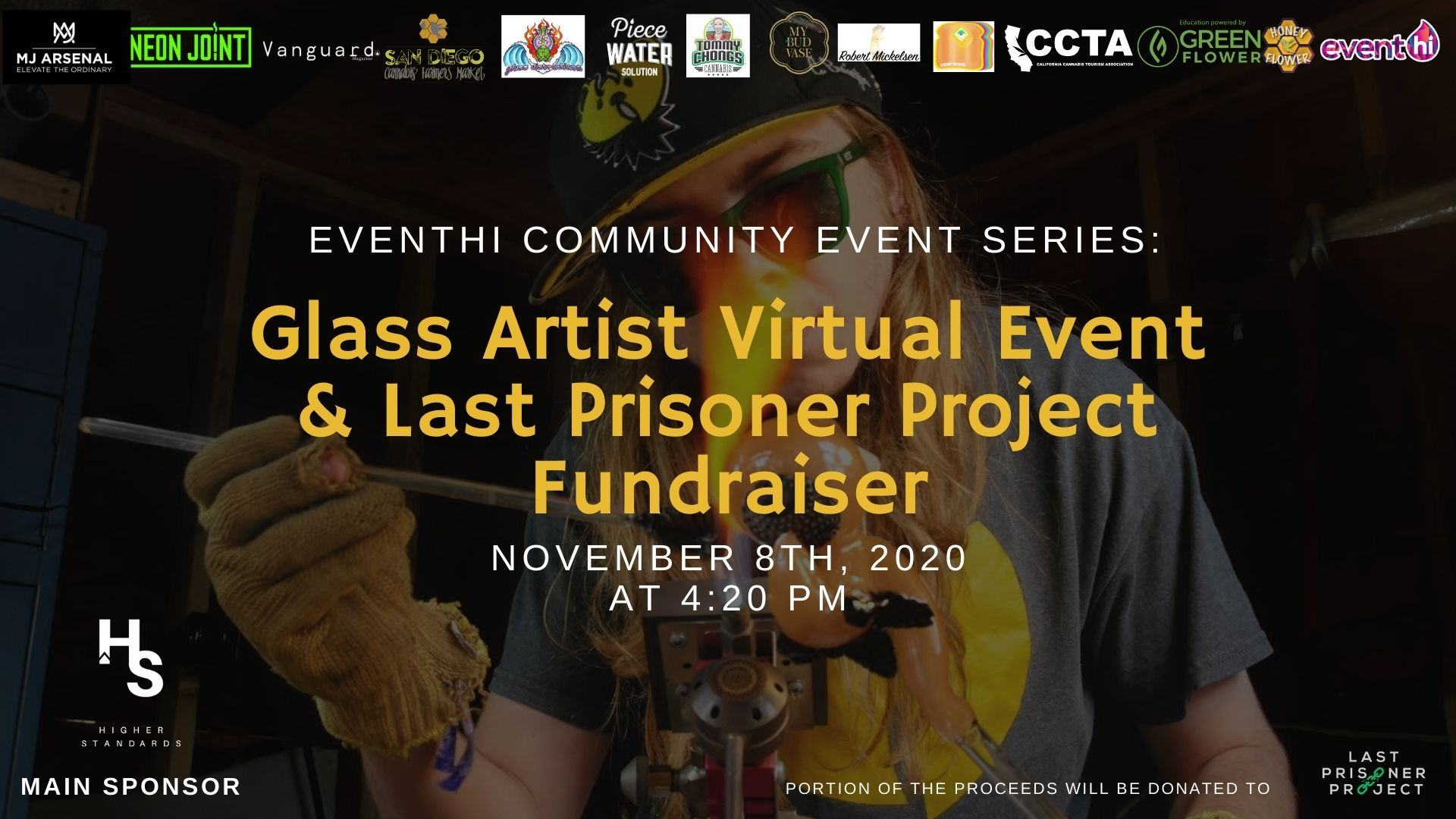 EventHi Community Event Series: Glass Art Virtual Event and Last Prisoner Project Fundraiser
