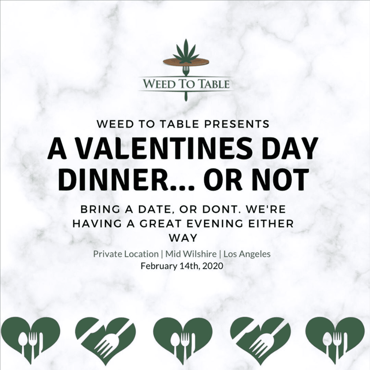 Weed To Table's Valentine's Day Dinner