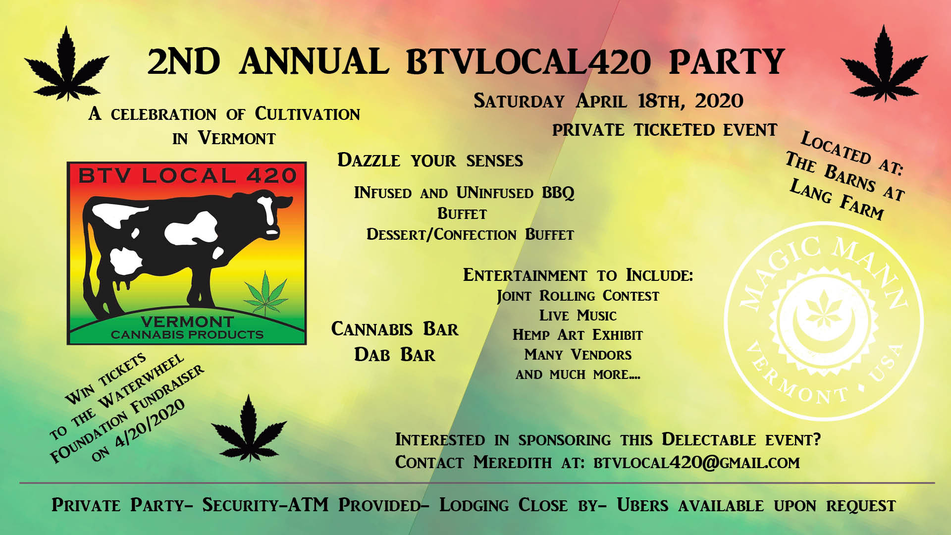 2nd Annual BTVLocal420 4/20 Party; A Celebration of Vermont Hemp Cultivation and Art
