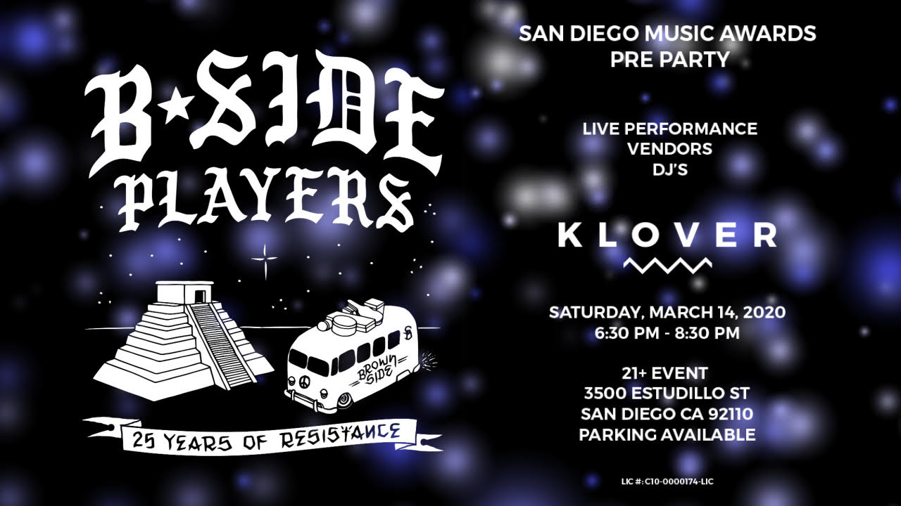 KLOVER Presents: The San Diego Music Awards Pre-Party