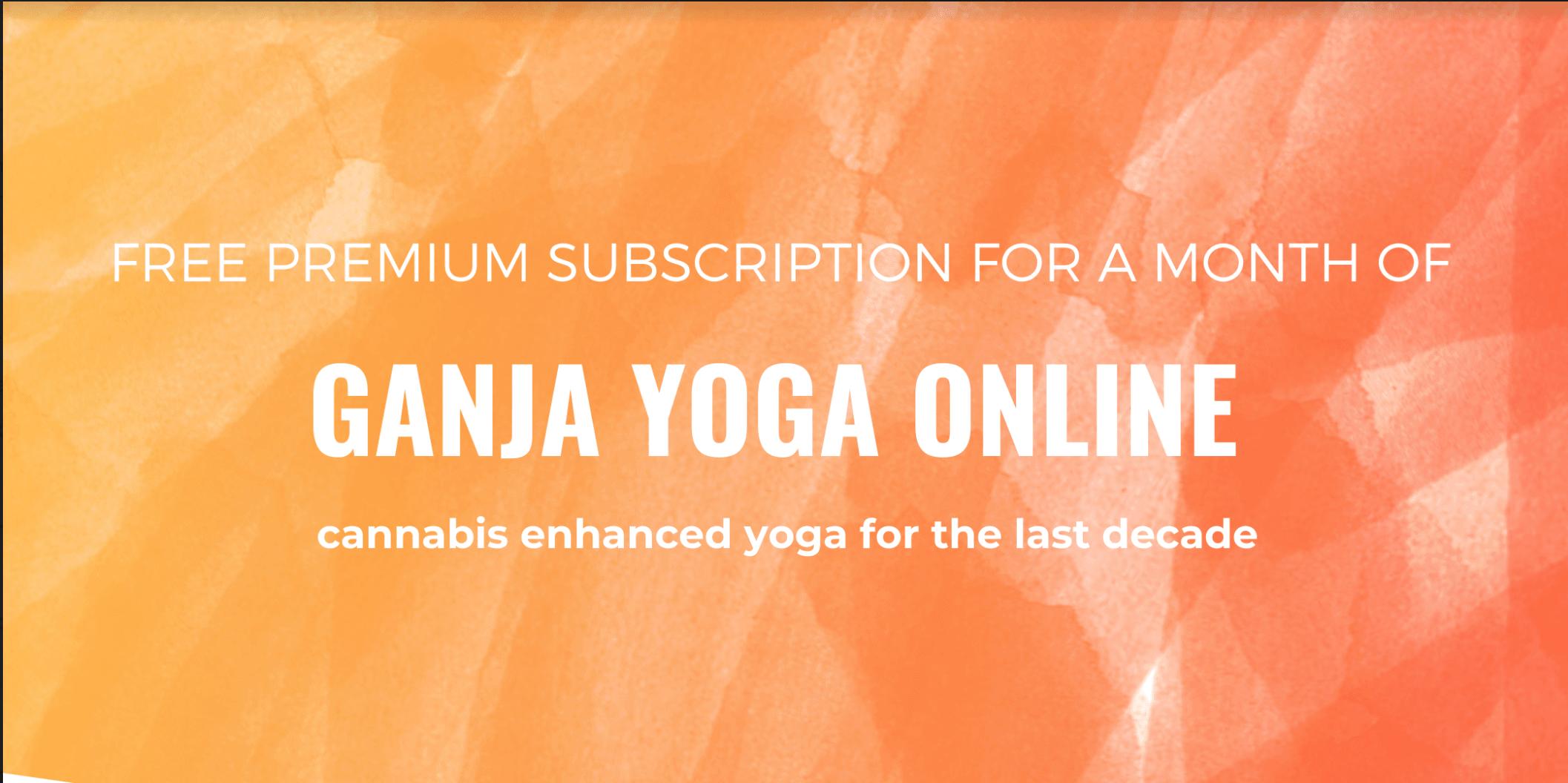 Free Month of Ganja Yoga Online for (Social Distancing Promo!)
