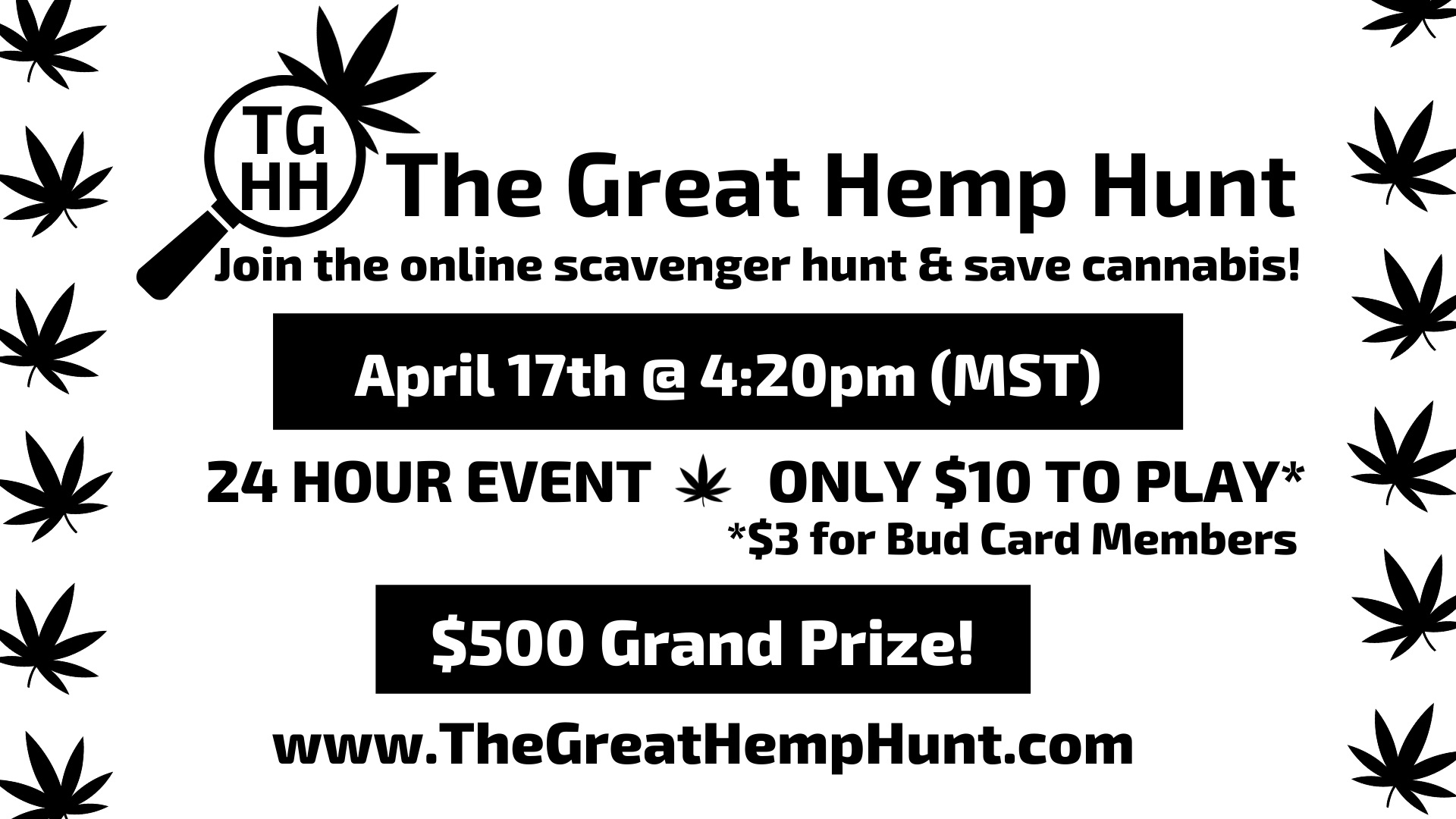 The Great Hemp Hunt brought to you by The Bud Card
