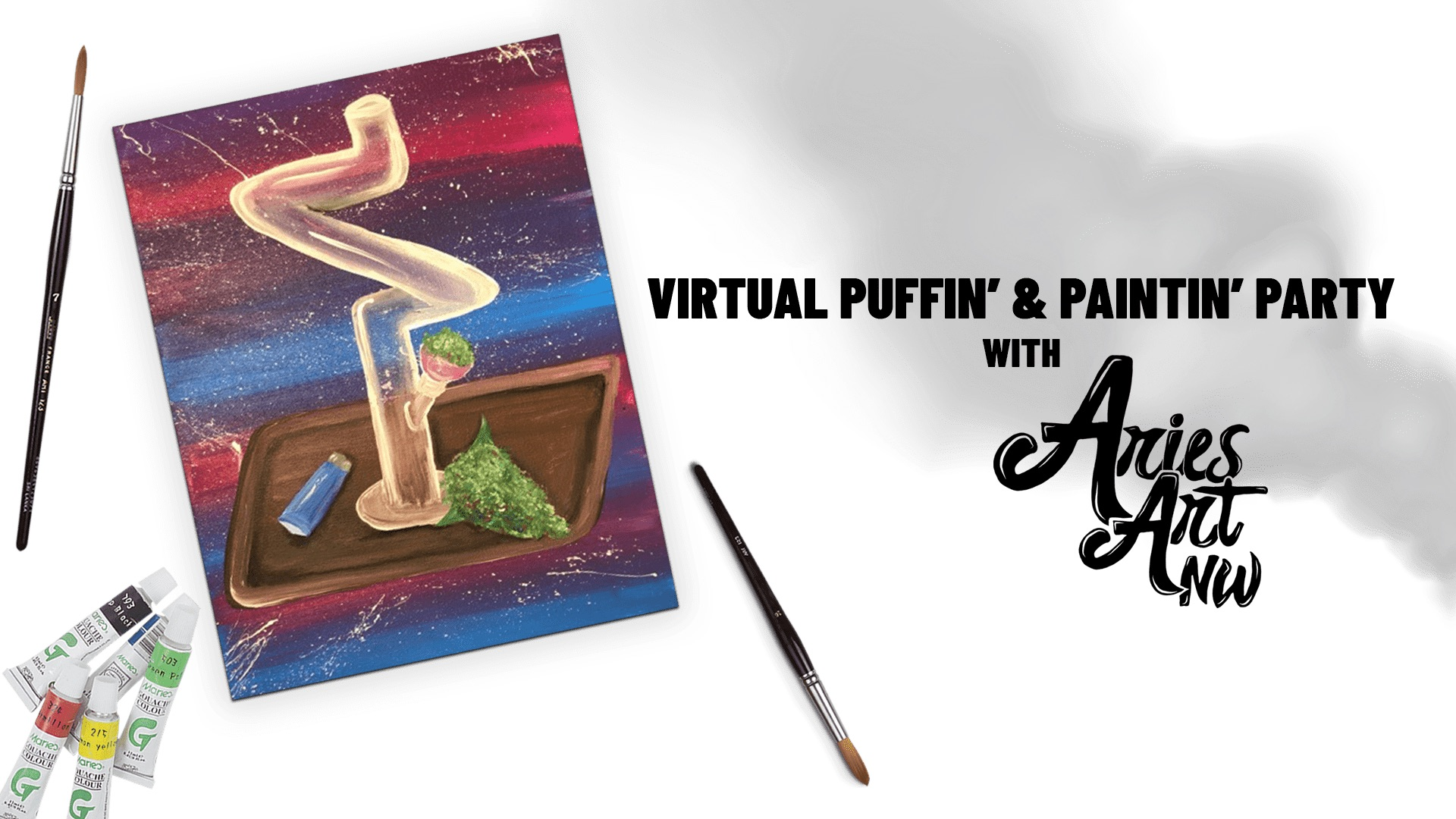 Puffin' & Paintin' Party