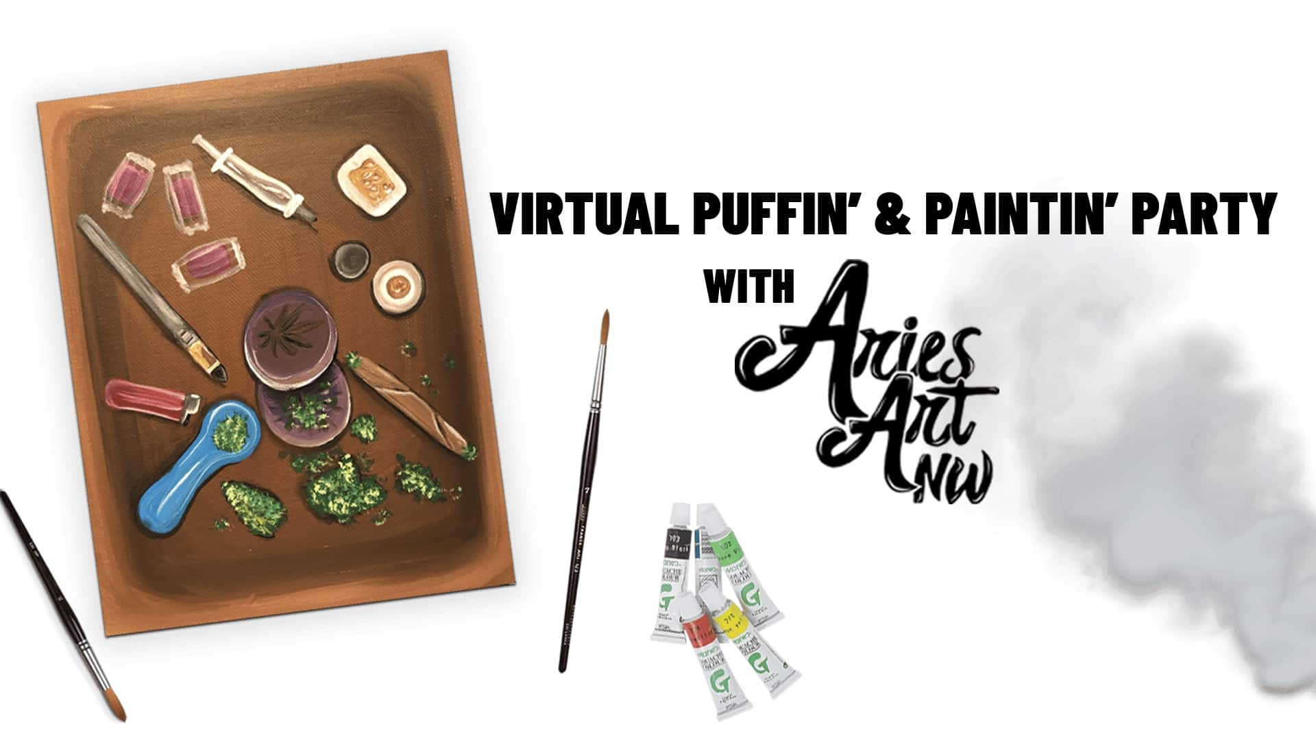 Puffin' & Paintin' Party 4/20/20