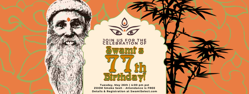 Swami's 77th Birthday Virtual Sesh & Celebration