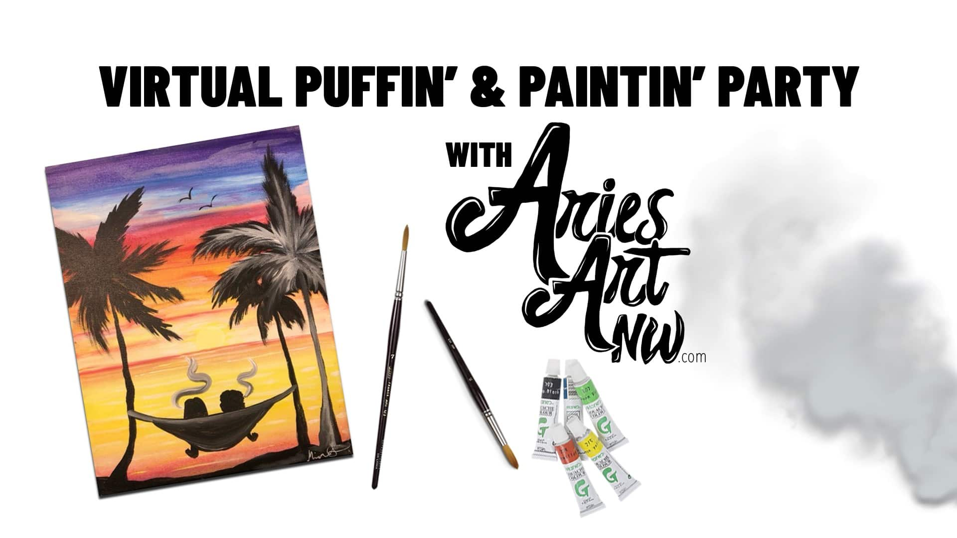 Virtual Puffin' & Paintin' Party