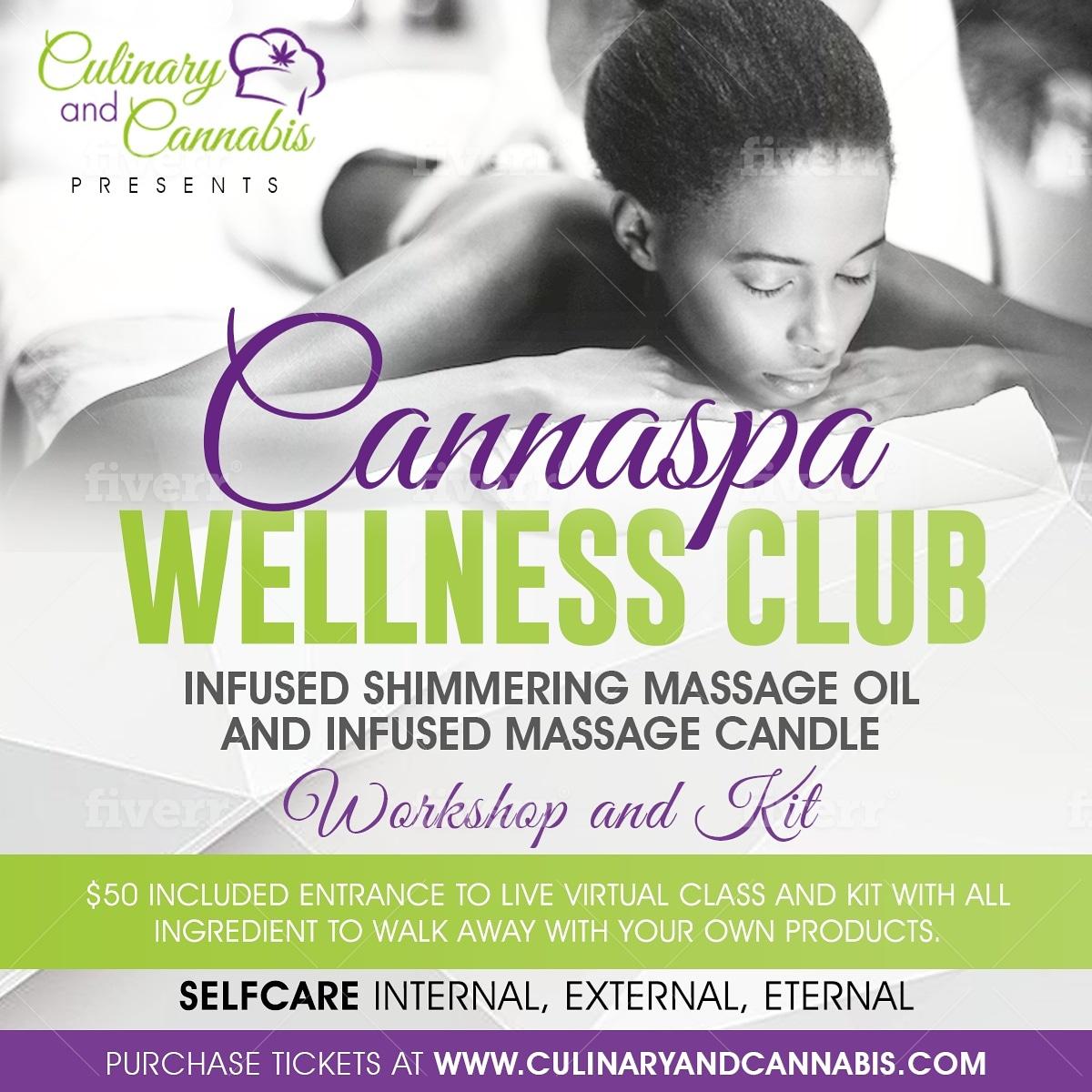 Cannaspa Wellness Club Infused Massage Oil DIY workshop and kit