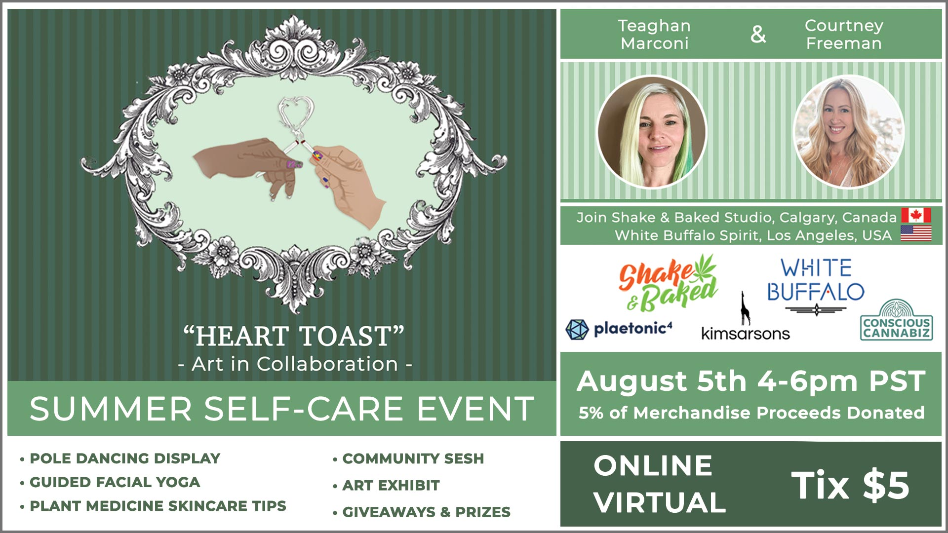 """Heart Toast"" • A Summer Self-Care Event with Pole Dance and Facial Yoga"