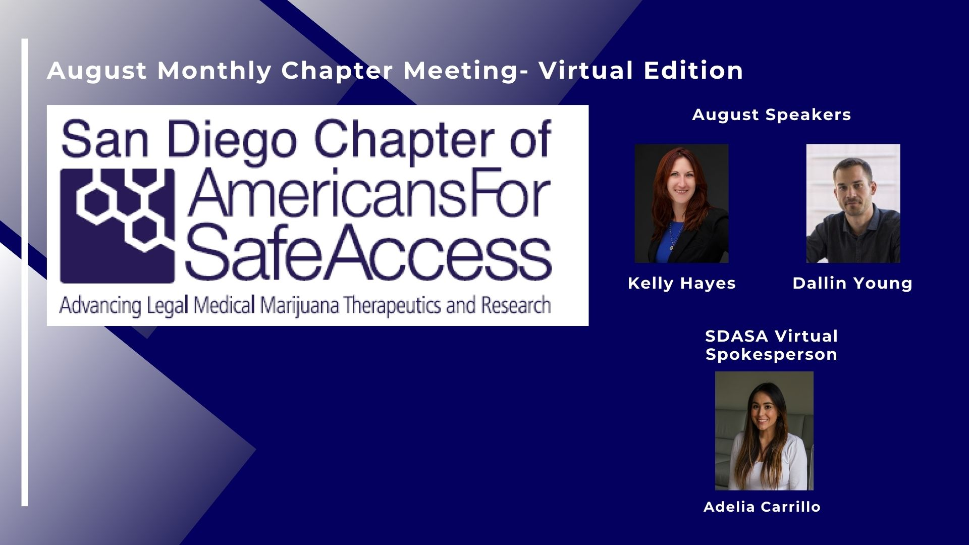 Americans for Safe Access San Diego Monthly Meeting- Virtual Edition