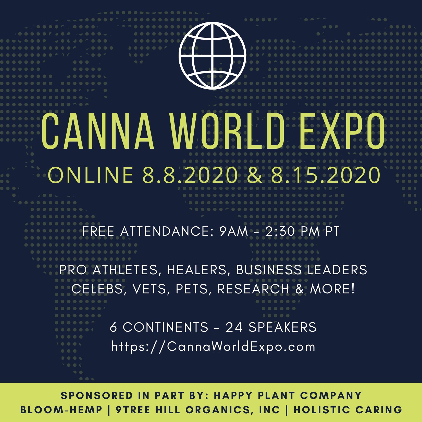 CANNA WORLD EXPO AUGUST 15th ONLINE SYMPOSIUM