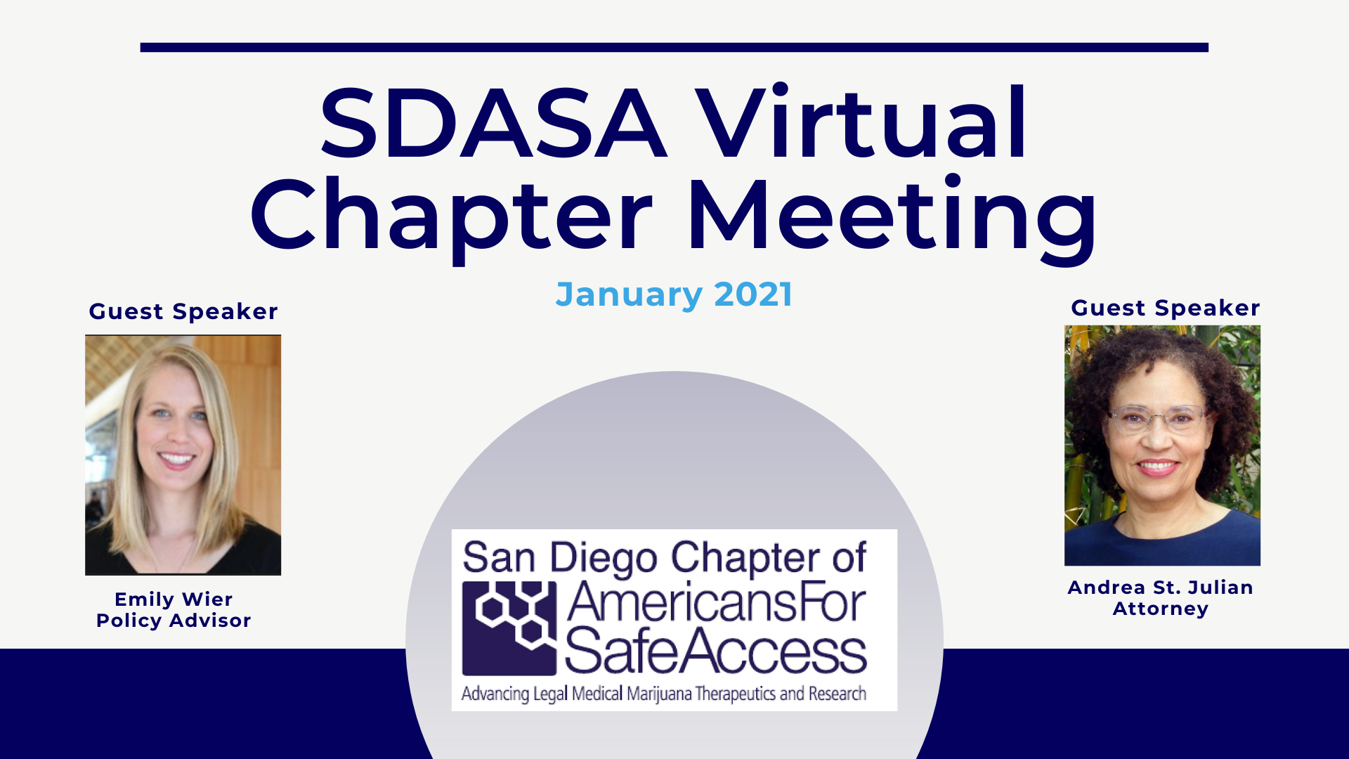January Americans for Safe Access San Diego Monthly Meeting- Virtual Edition