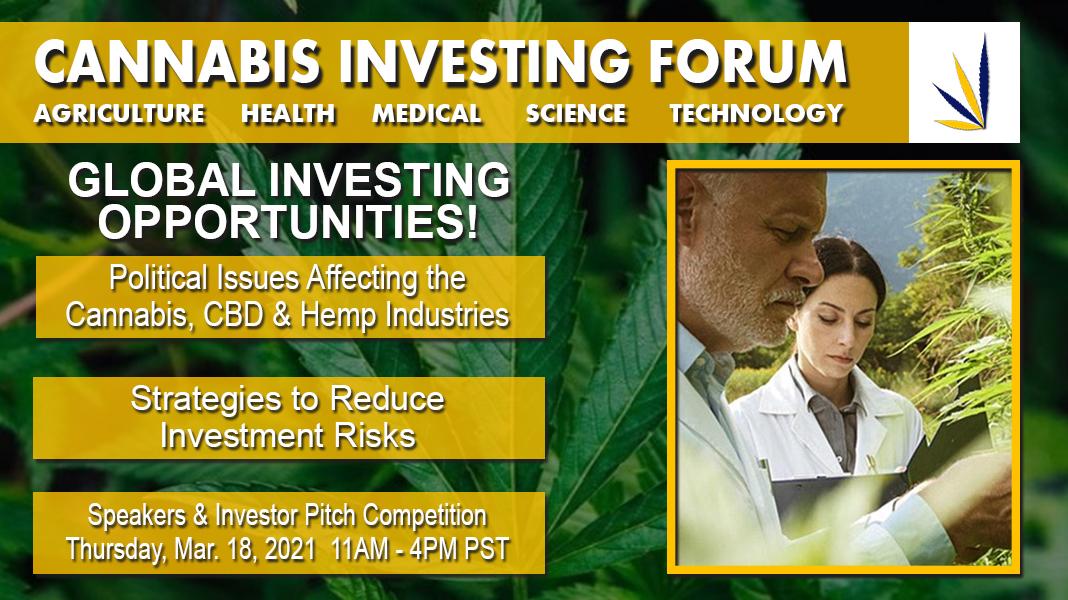 Cannabis Investing Forum Virtual Webinar