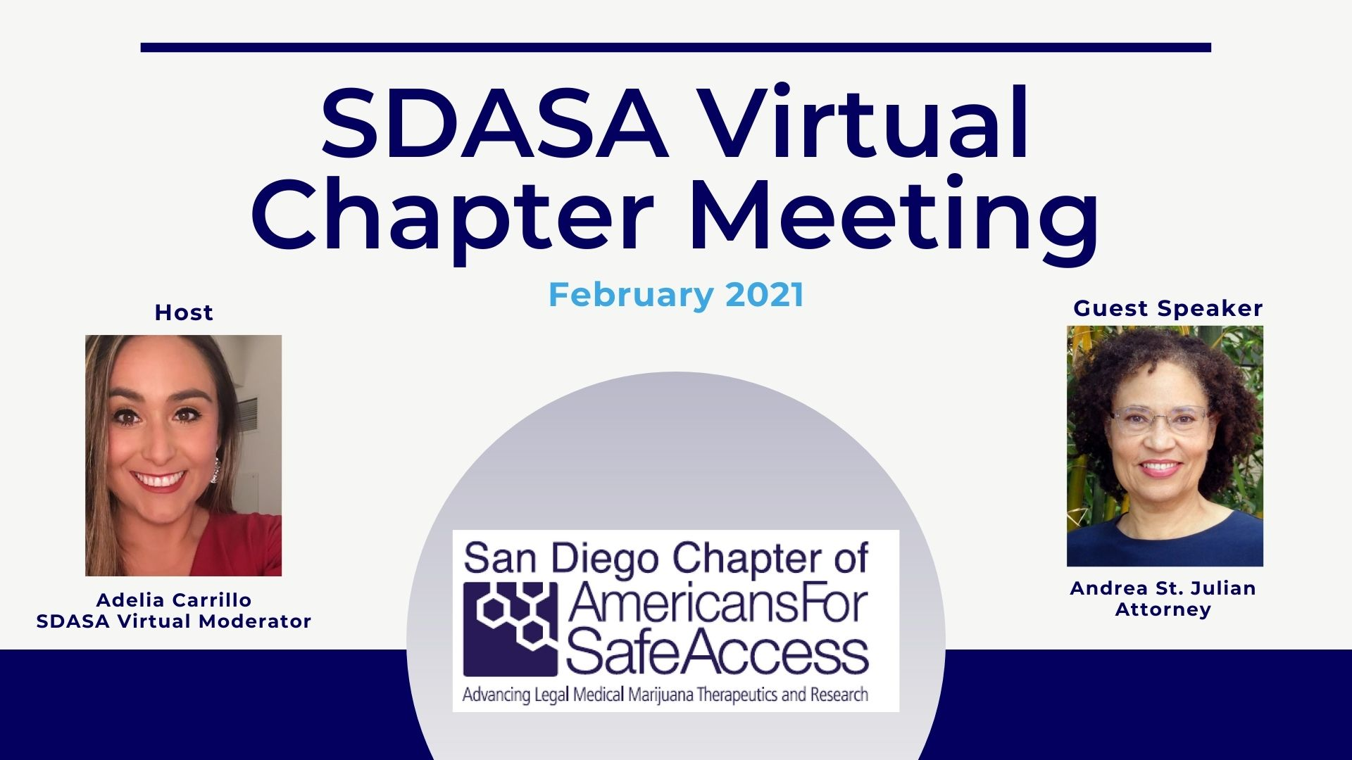 February Americans for Safe Access San Diego Monthly Meeting- Virtual Edition
