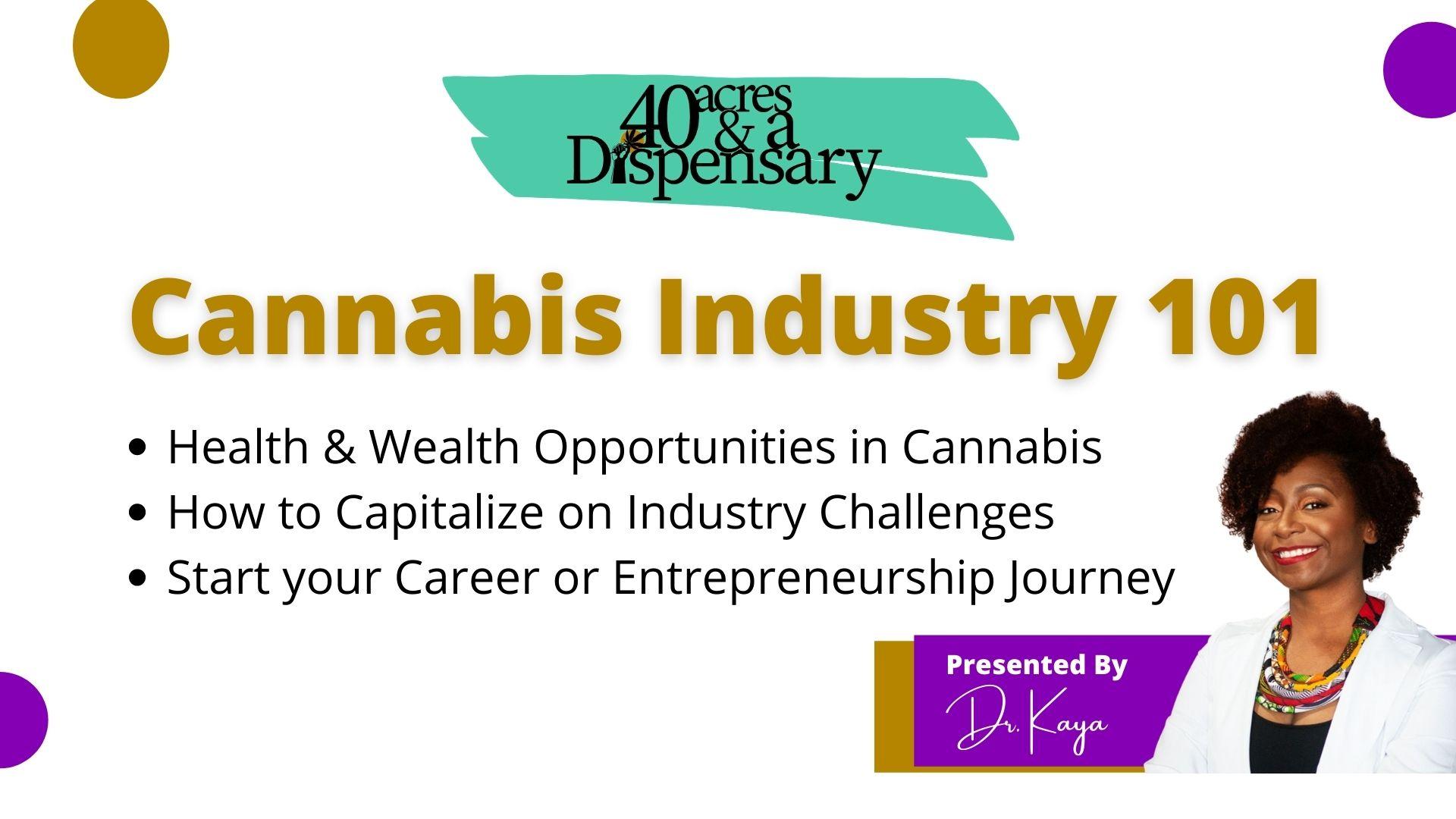 40 Acres And A Dispensary: Cannabis Industry 101 Webinar