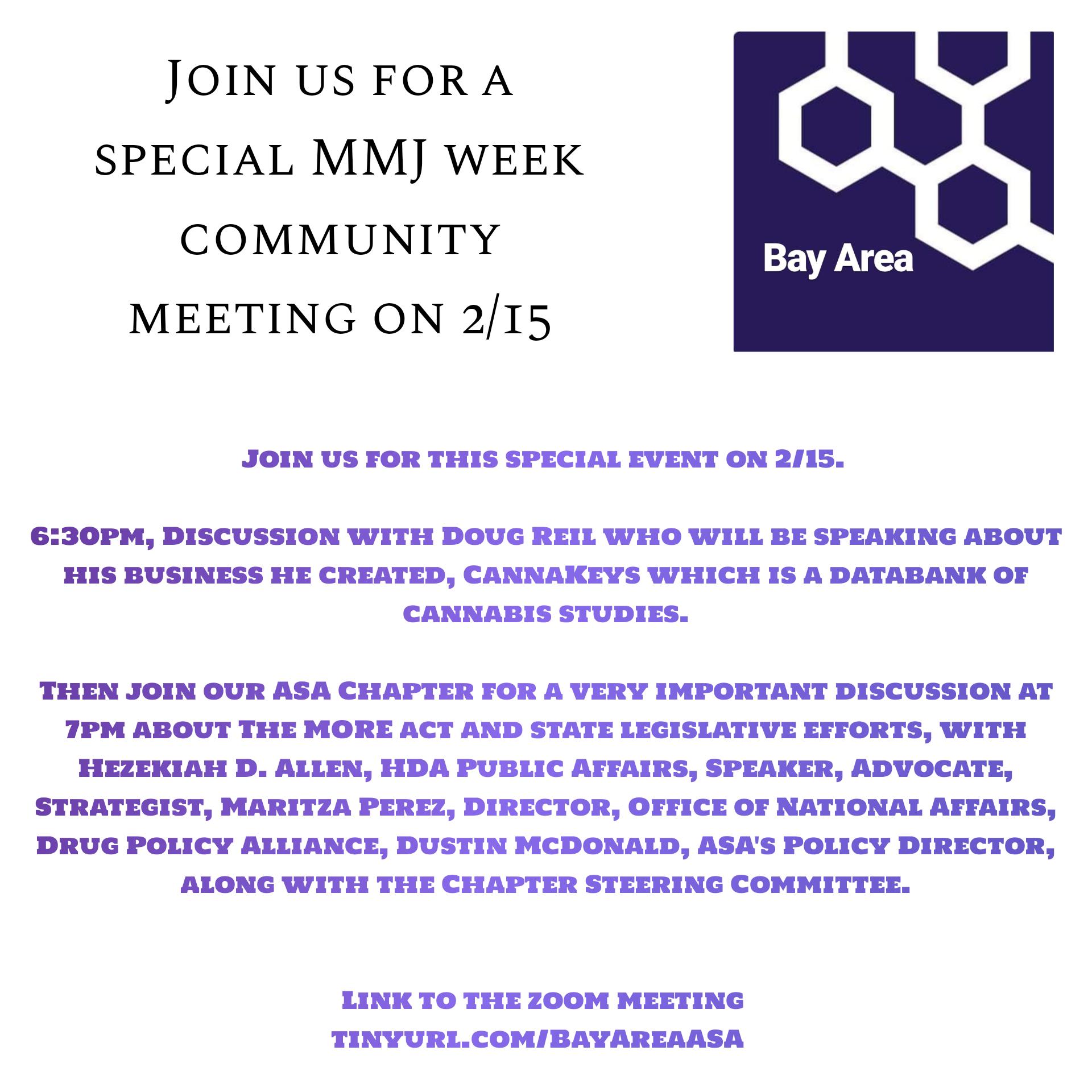 Special MMJ Week Community Meeting