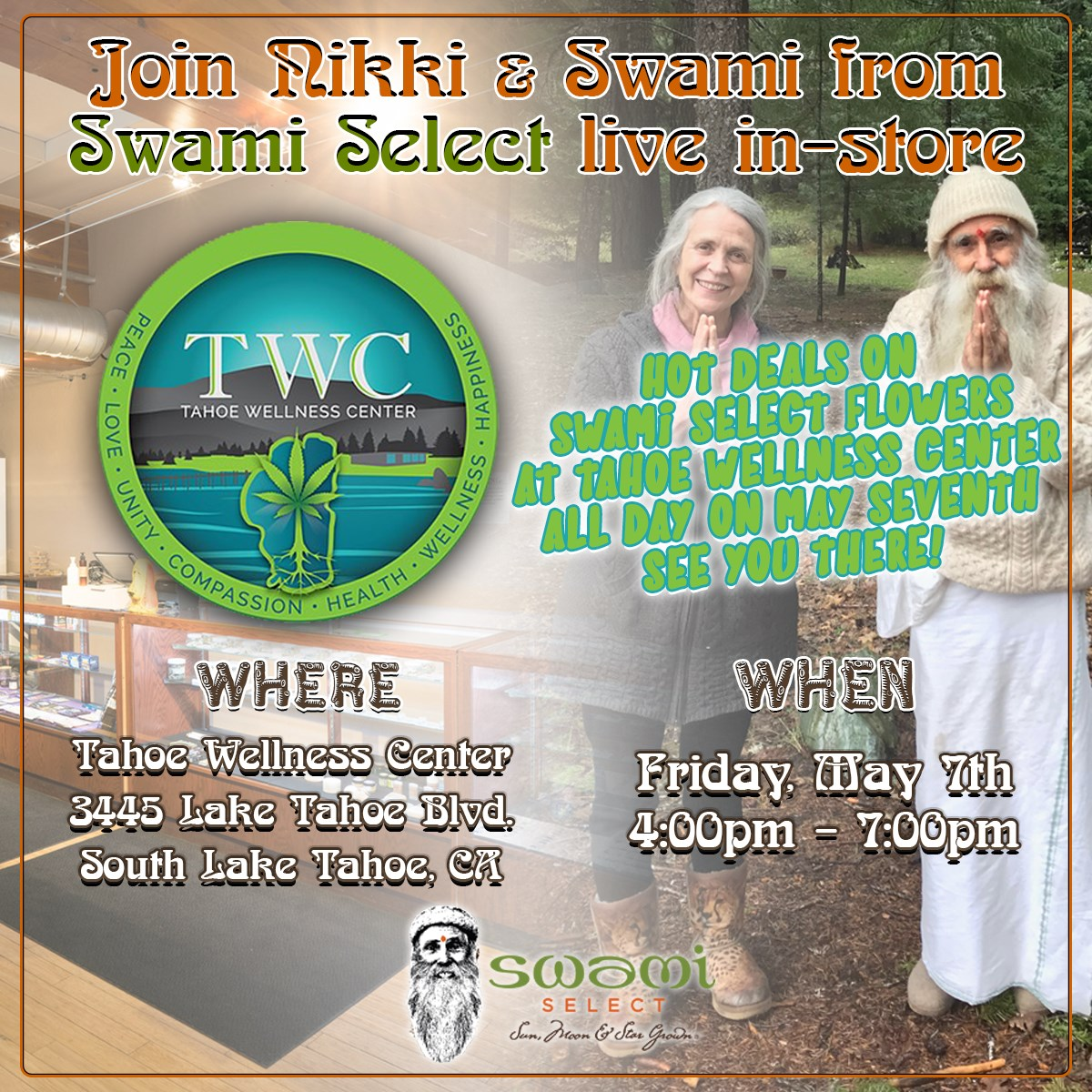 Swami Select In-Store Demo at Tahoe Wellness Center