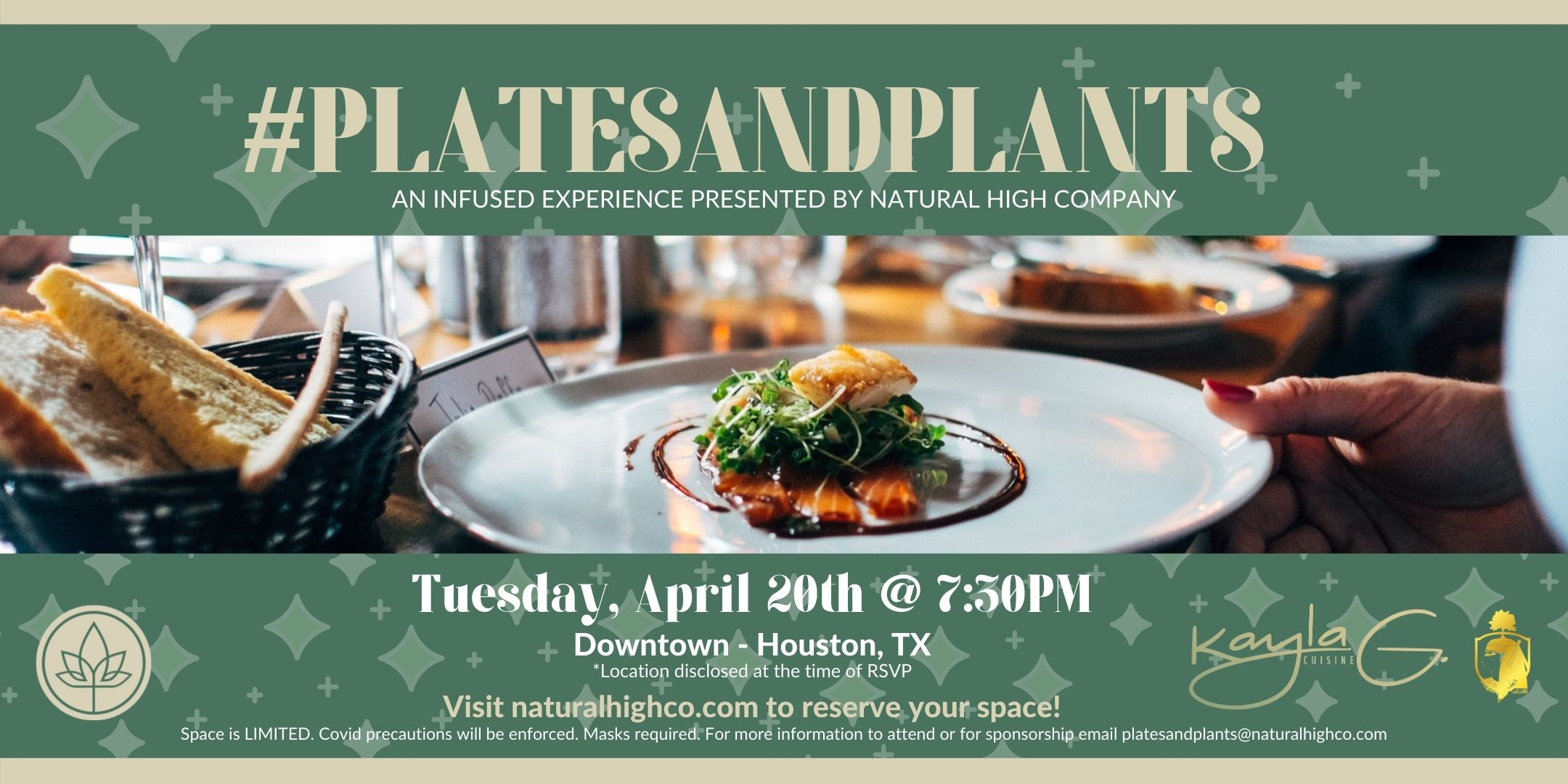 Natural High Co. #PlatesandPlants | an elevated experience featuring Chef Kayla G.