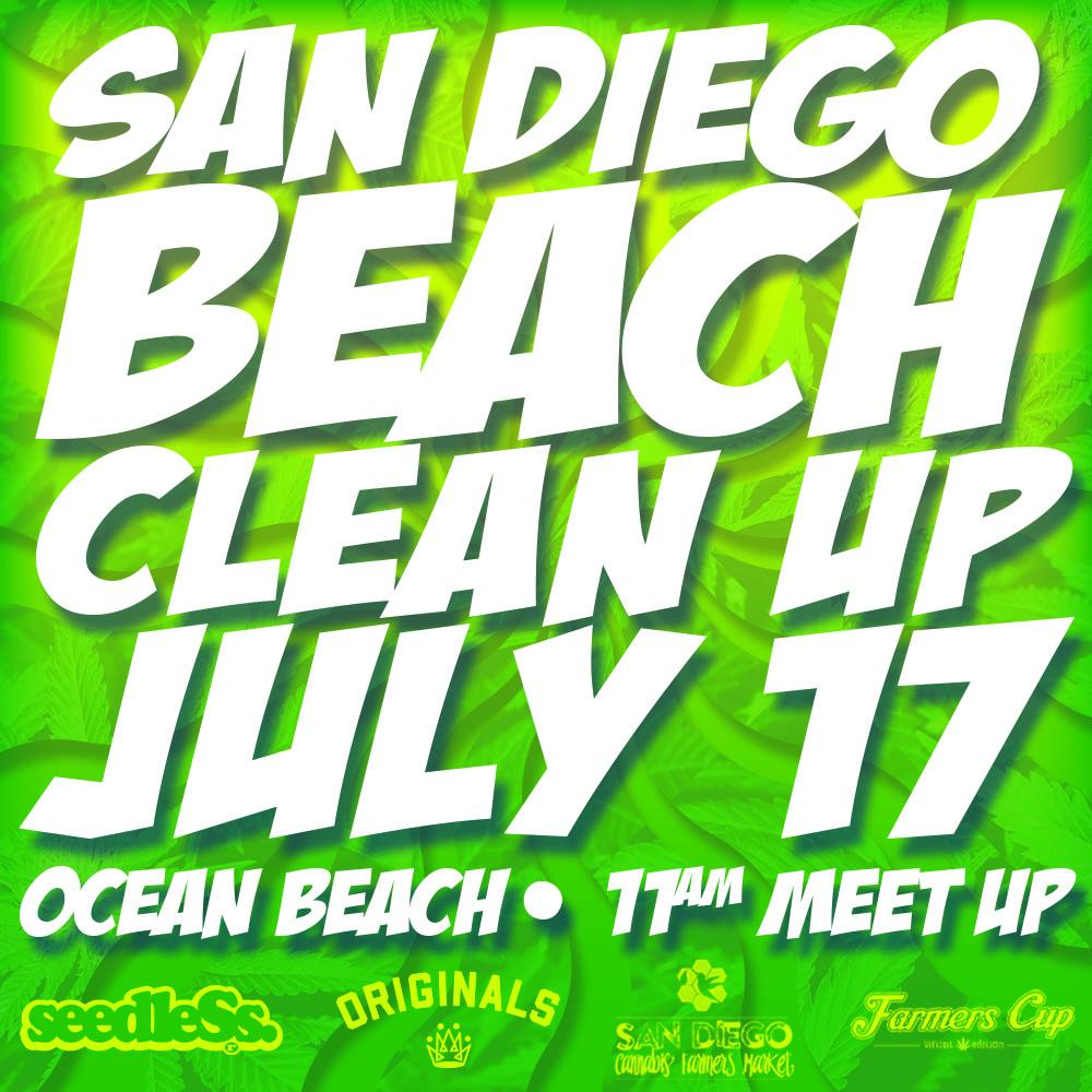 San Diego Cannabis Community Beach Cleanup (Sponsorship)