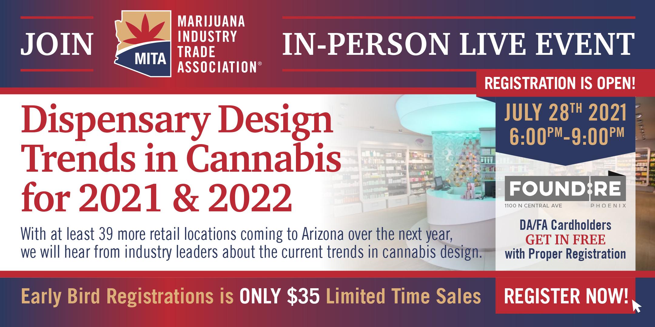 MITA AZ Cannabis Networking : Dispensary Design Trends for 2021 & 2022